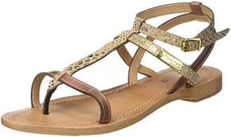 Les Tropéziennes Women's BAIE Ankle Strap Sandals, (Turquoise/Noir 840)
