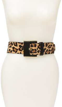 Fashion Focus ACCESSORIES Faux Fur Wide Prong Stretch Belt