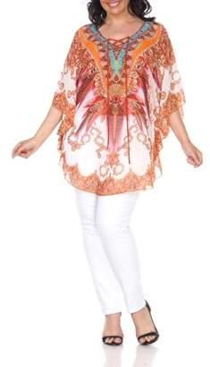 White Mark Women's Plus Size Tamati Top