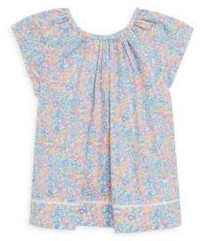 Ralph Lauren Toddler's, Little Girl's & Girl's Floral Flutter-Sleeve Cotton Top