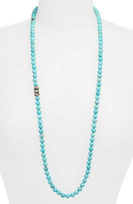 Armenta Armena New World Magnesite & Pearl Beaded Long Necklace