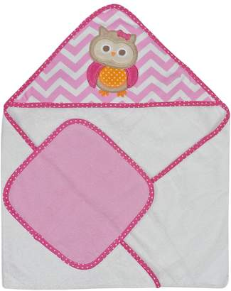 Neat Solutions Single Applique Print Woven Terry Hooded Towel and Washcloth Set