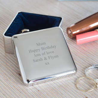 Oh So Cherished Personalised Square Trinket Box