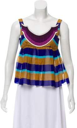 Miu Miu Sleeveless Striped Top