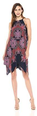 Maggy London Women's Starburst Paisley Hankey Hem Shift