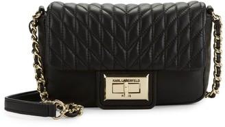 Karl Lagerfeld Paris Agyness Leather Crossbody Bag