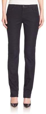 Lafayette 148 New York Italian Bi-Stretch Five-Pocket Denim Skinny Jeans