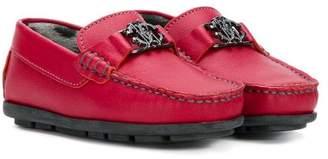 Roberto Cavalli Junior logo tab loafers