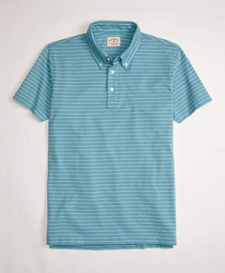 Brooks Brothers Jacquard Feeder-Stripe Polo Shirt