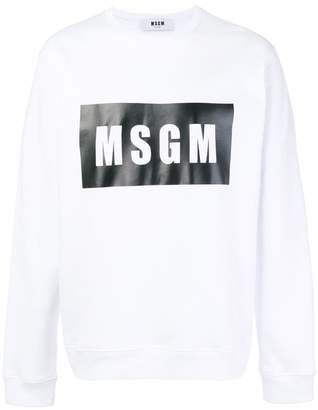 MSGM printed logo sweater