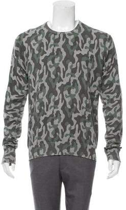 Michael Bastian Knit Camouflage Sweater
