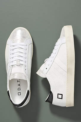 D.A.T.E Black + White Leather Sneakers