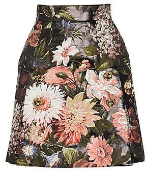Dolce & Gabbana Women's Flower Print Skirt