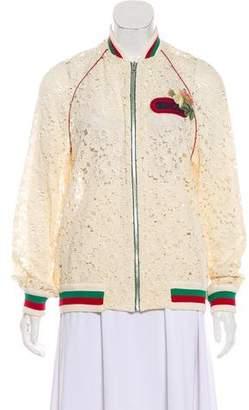 Gucci 2018 Lace Bomber Jacket