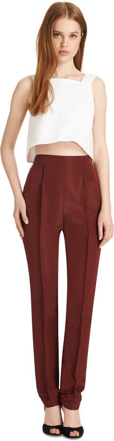 Rosie Assoulin Cotton-Poplin Crop Top