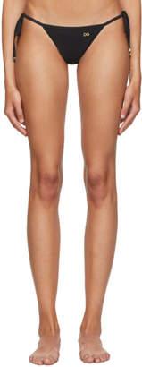 Dolce & Gabbana Black String Bikini Bottom