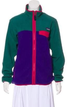 Patagonia Long Sleeve Zip Front Sweatshirt