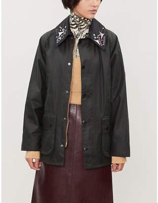 Toga x Barbour embellished-collar cotton coat