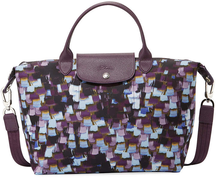 Longchamp Le Pliage Neo Vibration Medium Top-Handle Bag with Strap