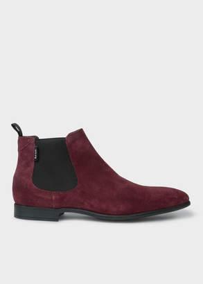 Paul Smith Men's Bordeaux Suede 'Falconer' Chelsea Boots
