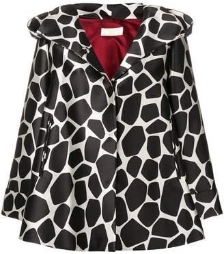 Sara Battaglia giraffe print oversized jacket