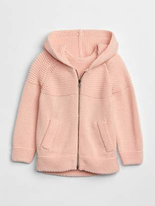 Gap Garter zip sweater hoodie
