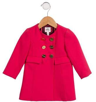 Milly Minis Girls' Double-Breasted Coat