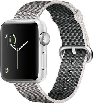 Apple Watch Series 2 38mm Silver-Tone Aluminum Case with Pearl Woven Nylon Band $369 thestylecure.com
