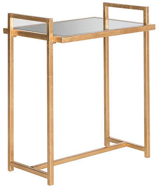 One Kings Lane Logan Mirrored Side Table - Antiqued Gold