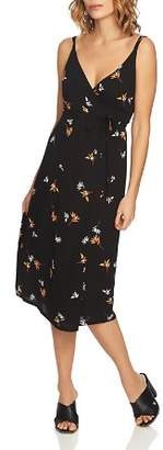 1 STATE 1.STATE Floral-Print Midi Wrap Dress