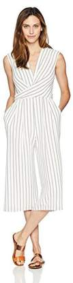 Maggy London Women's Rope Stripe Drape Neck Novelty Jumpsuit