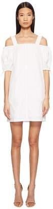Sportmax Cina Cold Shoulder Puff Short Sleeve Dress Women's Dress