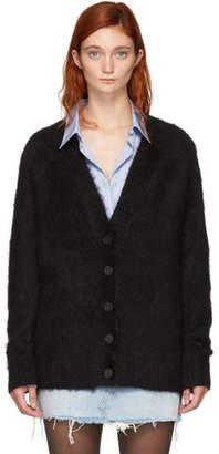 Alexander Wang Black Mohair Solid Cardigan