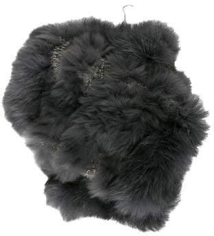 Jocelyn Fur-Trimmed Knit Mittens w/ Tags