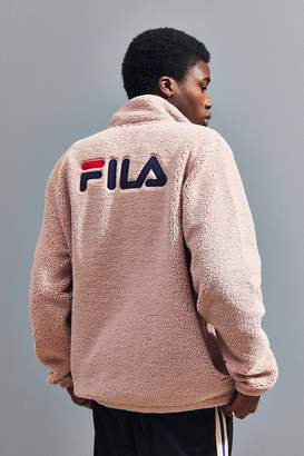 Fila UO Exclusive McMillan Zip-Up Sherpa Sweatshirt Jacket