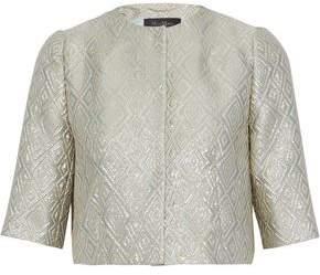 Max Mara Cropped Metallic Jacquard Jacket
