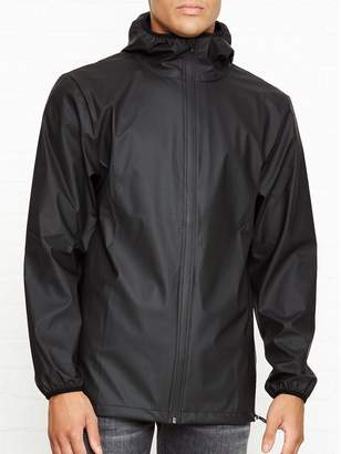 Rains Short Lightweight Base Rain Jacket- Black