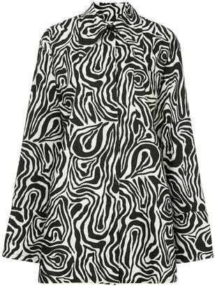 Marni zebra print long shirt