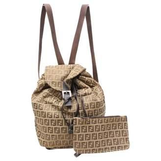 Fendi Brown Suede Backpacks