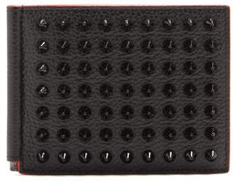 Christian Louboutin Clipsos Stud Embellished Leather Wallet - Mens - Black