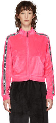 Opening Ceremony Pink Velour Track Zip-Up Jacket