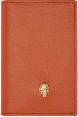 Alexander McQueen Orange Skull Bifold Card Holder