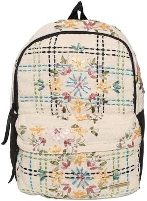 Natargeorgiou Embroidered Neoprene & Cotton Backpack