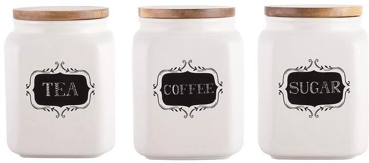Creative Tops Stir It Uptrio Of Tea, Coffee & Sugar Storage Jars