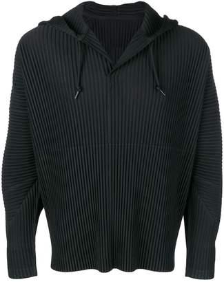Issey Miyake Homme Plissé hooded sweatshirt