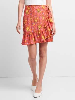 Gap Ruffle Wrap Skirt