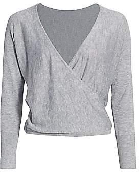 Alice + Olivia Women's Bedelle Surplice Cashmere-Blend Sweater