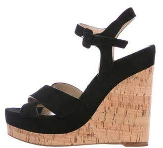 Michael Kors Suede Wedge Sandals