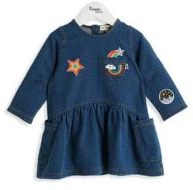 Baby Girl's Donna Badges Denim Dress