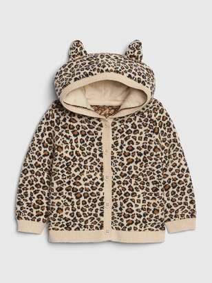 Gap Baby Brannan Bear Leopard Sweater